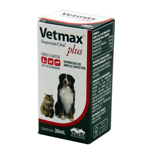 Vetmax Suspensão 30ml Vetnil Vermífugo Cães e Gatos