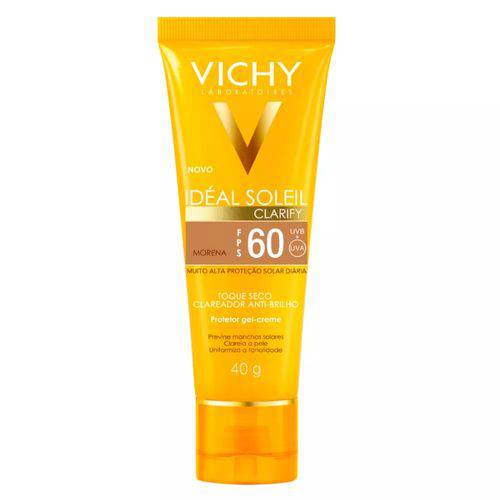 Tudo sobre 'Vichy Ideal Soleil Clarify Fps 60 Cor Morena 40g'