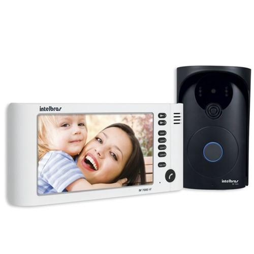 """Vídeo Porteiro com Tela LCD 7"""" com Viva-Voz Branco IV7000 HF 4390185 – Intelbras"""