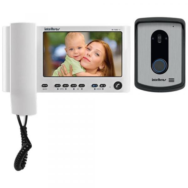 "Vídeo Porteiro Intelbras IV 7010HS Monitor LCD 7"" com Monofone Branco"