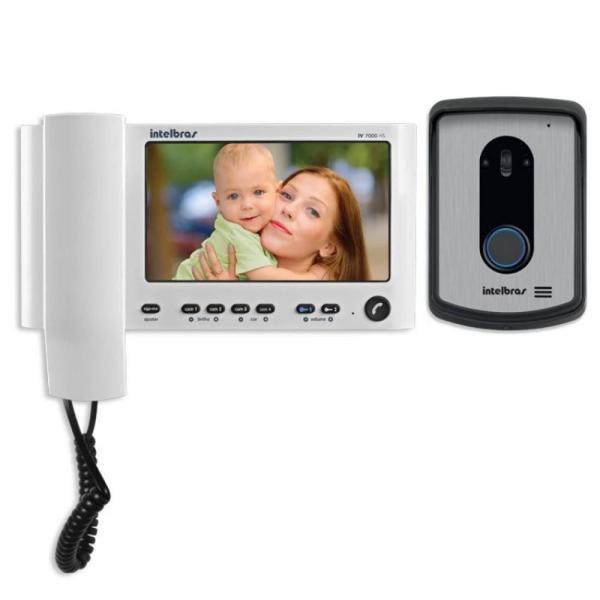 """Vídeo Porteiro Intelbras IV 7010HS, Tela LCD 7"""", com Monofone"""