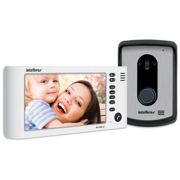 """Video Porteiro Intelbras IV7010 HF LCD 7 Polegadas e Handset 7"""" Branco"""