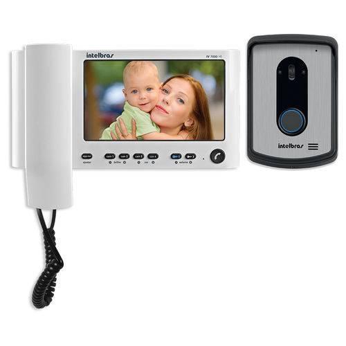 Video Porteiro Intelbras Iv7010 Hs Lcd 7 Polegadas e Handset 7 Branco