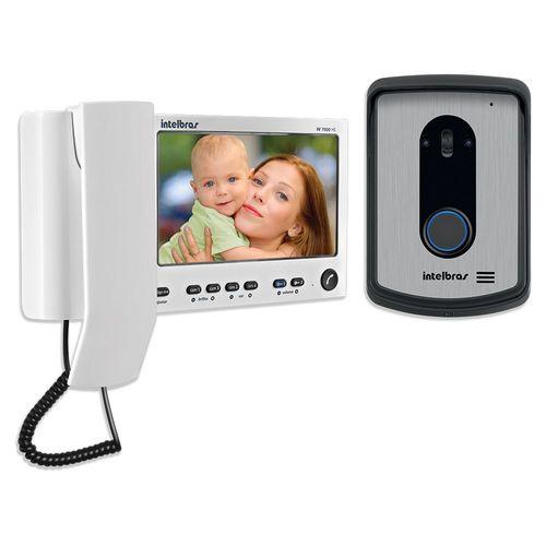 """Video Porteiro Intelbras IV7010 Hs LCD 7 Polegadas e Handset 7"""" Branco"""