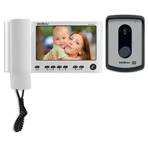 Video Porteiro Intelbras Iv7010 Hs Lcd 7 Polegadas e Handset 7' Branco