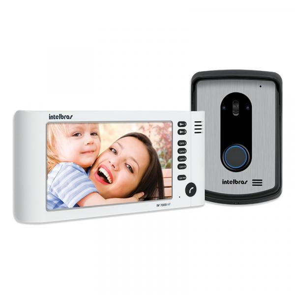 Videoporteiro Intelbras IV 7010 HF com Viva-Voz Branco