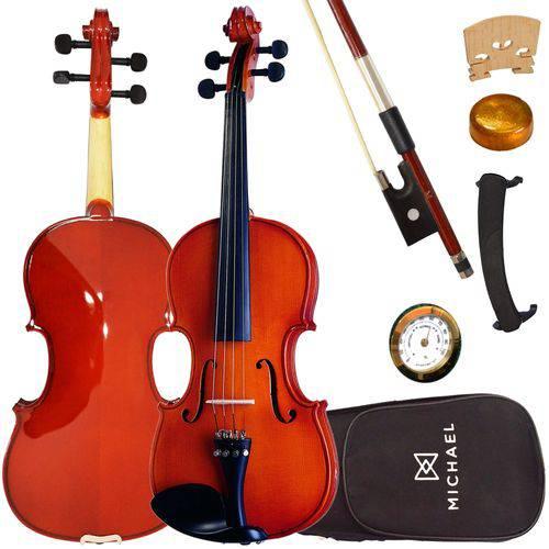 Violino 1/2 Tradicional Infantil Vnm11 Michael com Estojo + Espaleira