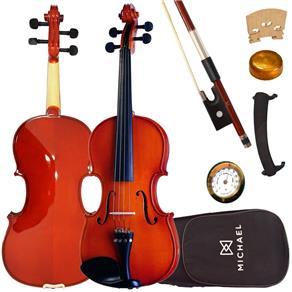 Violino 4/4 Tradicional VNM40 Michael com Estojo + Espaleira