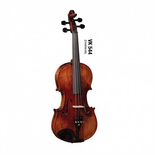Violino Eagle Vk 544 4/4 Tampo Maciço Spruce com Estojo, Arco, Espaleira, Cavalete e Breu
