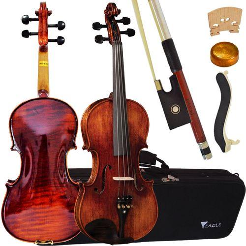 Violino Vk544 4/4 Envelhecido Eagle com Estojo Luxo + Espaleira