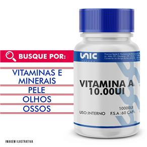 Vitamina a 10000Ui 60 Cáps