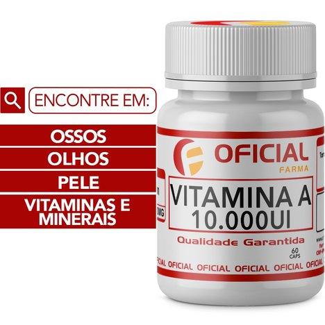 Vitamina a 10000Ui 60 Cápsulas