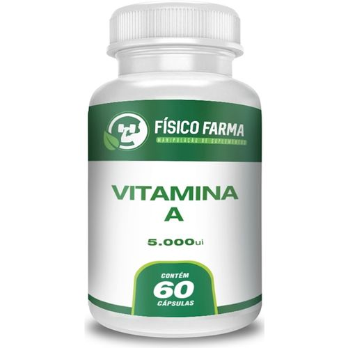 Vitamina a 5000ui 60 Cápsulas