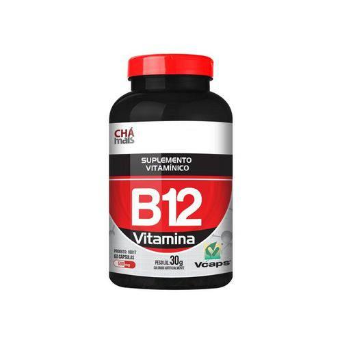 Vitamina B12 500Mg Chá Mais 60 Cápsulas