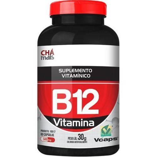 Vitamina B12 60 Cápsulas 500mg Chá Mais
