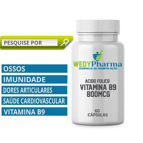 Vitamina B9 800mcg 60 Cápsulas