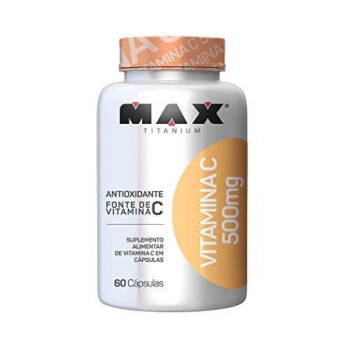 Vitamina C 500mg - 60 Cápsulas, Max Titanium