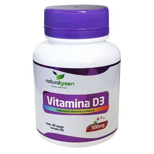 Vitamina D3 500mg com 40 Cápsulas