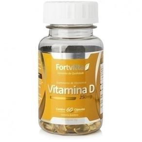 Vitamina D 250mg 60 Cápsulas - Fortvitta - SEM SABOR