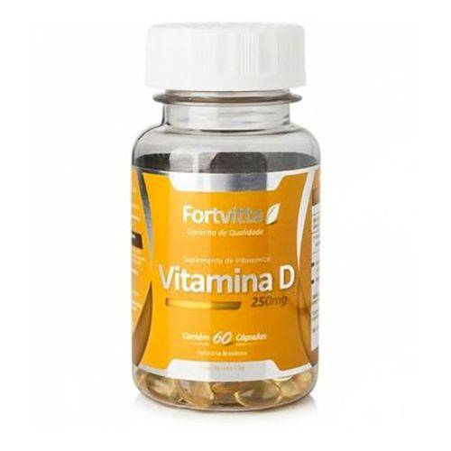 Vitamina D Fortvitta 250mg 60 Cápsulas