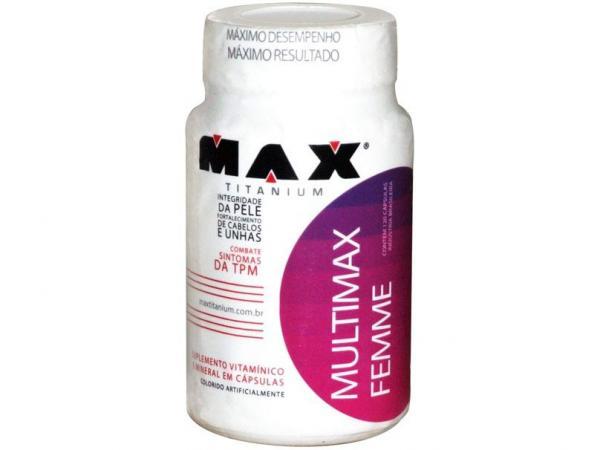 Vitamina Multimax Femme 120 Cápsulas - Max Titanium