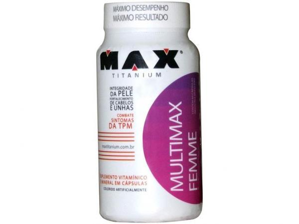 Vitamina Multimax Femme 60 Cápsulas - Max Titanium