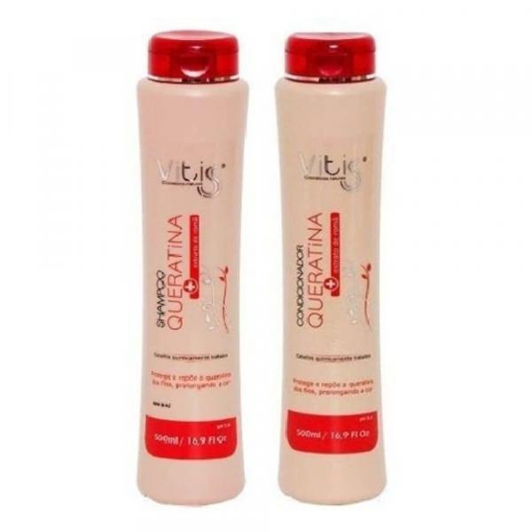 Vitiss Queratina Shampoo + Condicionador 500ml