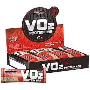 VO2 Protein Bar - 12 Unidades (1cx.) - IntegralMedica - CHOCOLATE