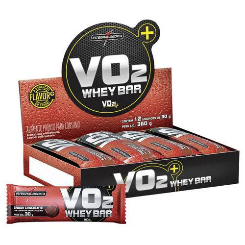Vo2 Whey Bar Chocolate 30G - 12 Unidades - Integralmedica
