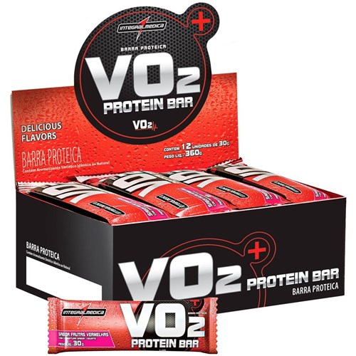 VO2 Whey Bar (cx C/24 Unid) - IntegralMédica - Chocolate