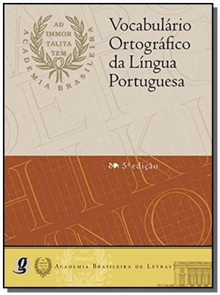 Vocabulario Ortografico da Lingua Portuguesa- Capa - Global