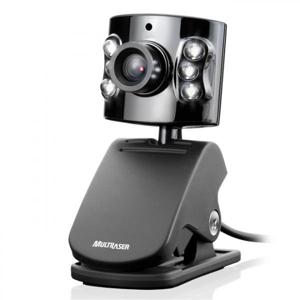 Webcam com Microfone 5.0 Mp Usb Preto Wc040 Multilaser