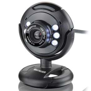 Webcam Multilaser Night Vision 16 MP WC045 Preta