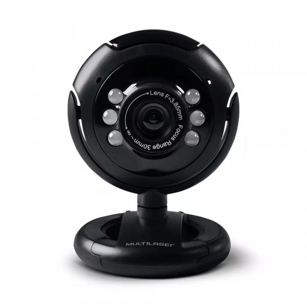 Webcam Multilaser Nightvision WC045, Plug Play, 16 MP, Microfone, USB - Preto