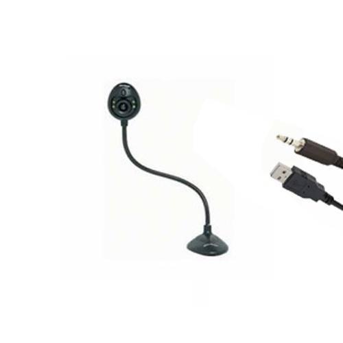 Webcam Multilaser Wc32203 C/ Microfone P2 Usb Preta
