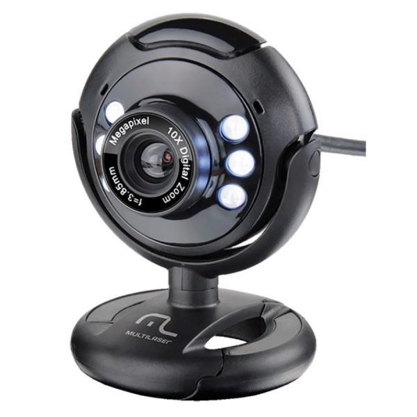 Webcam Multilaser WC045 Plug e Play 16Mp NighTVision Microfone USB