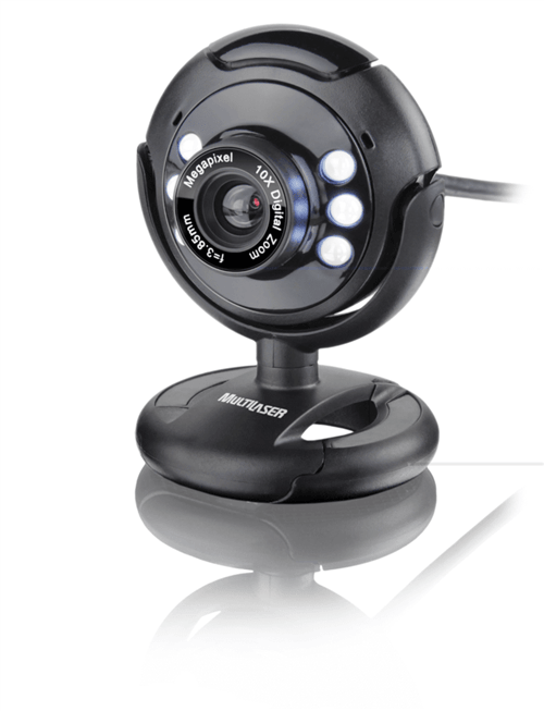 Webcam Night Vision 16.0 Megapixel Multilaser - Wc045