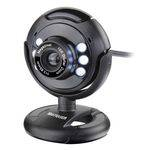 Webcam Plugeplay 16mp Nightvision Mic Usb Preto Wc045 Multilaser
