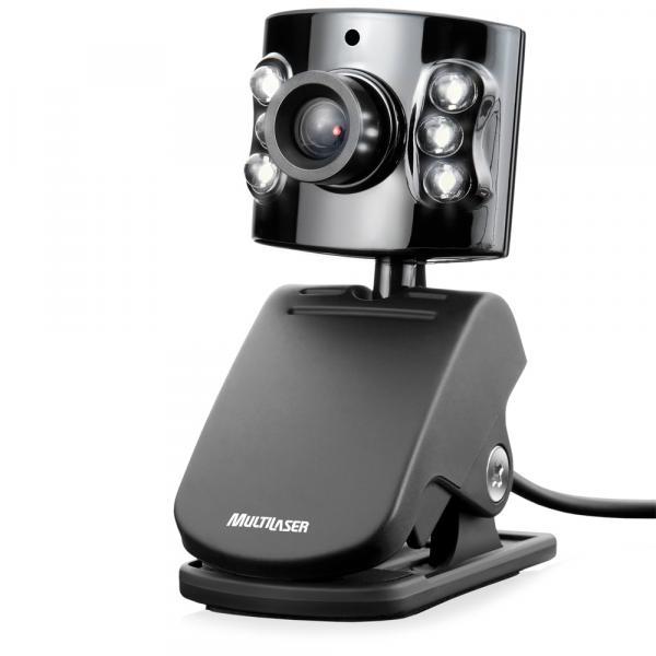 WebCam USB C/ Microfone Preta Multilaser - WC040