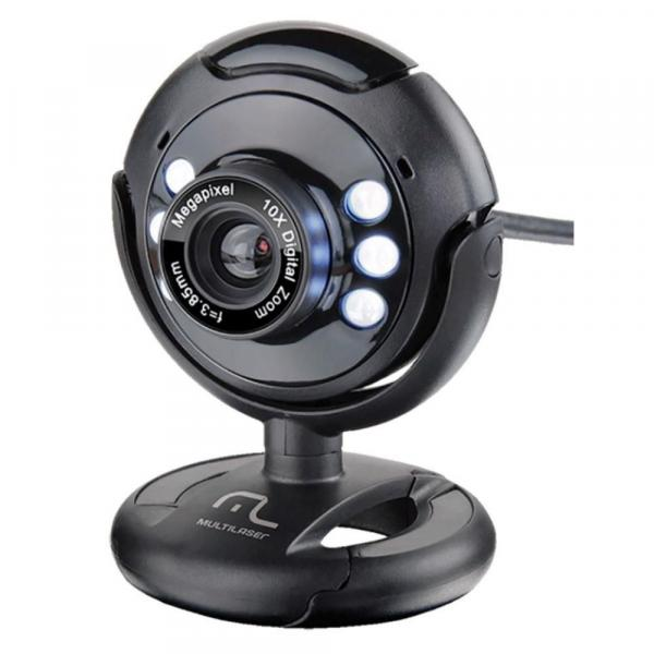 Webcam USB com Microfone Preta WC045 - Multilaser