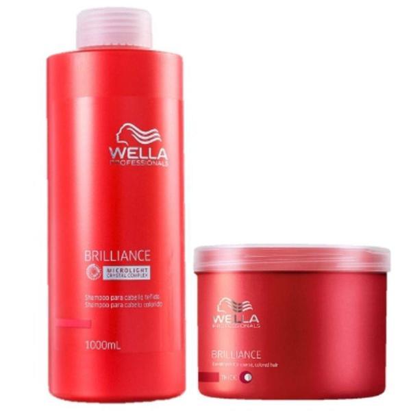 Wella Brilliance Hidratação Profissional Kit 2 Produtos
