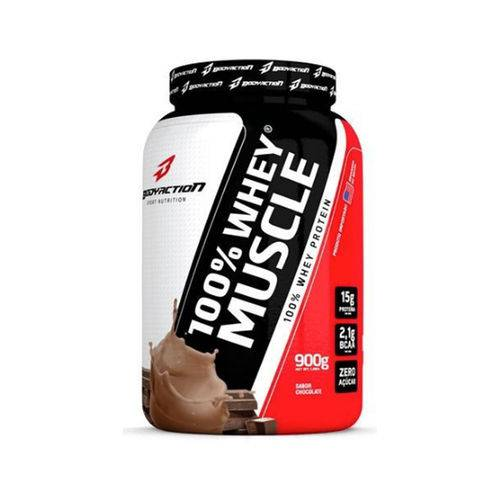 Whey 100% Muscle 900gr - Body Action-Chocolate