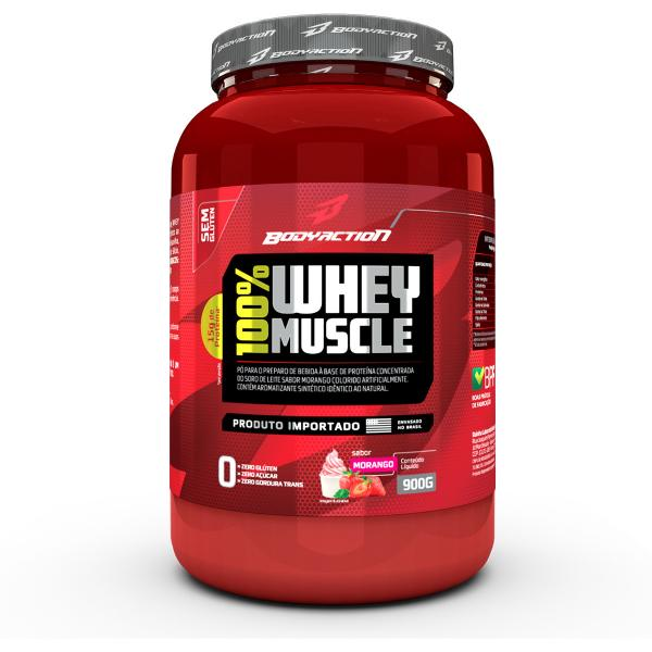 Whey 100% Muscle 900gr - Body Action