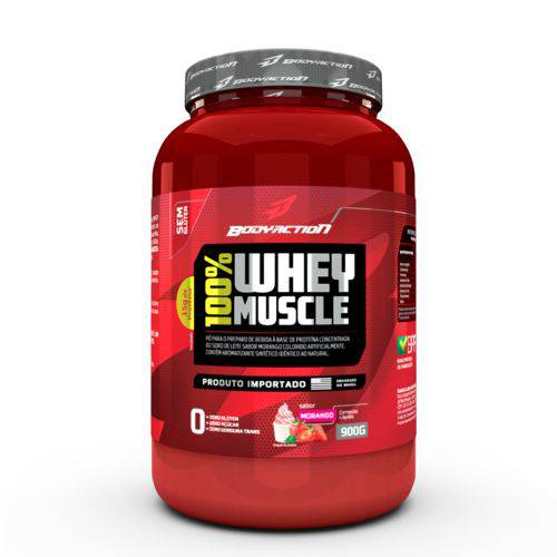 WHEY 100% MUSCLE - BODY ACTION 900G - Chocolate