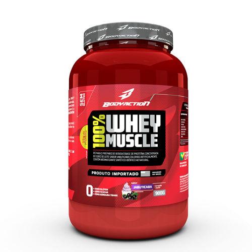 Whey 100% Muscle - Body Action 900g - Jabuticaba