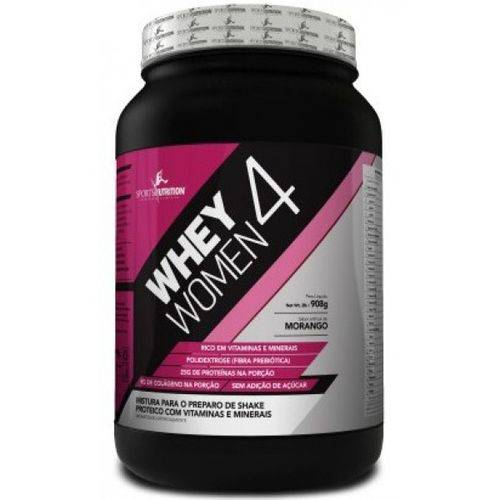 Whey 4 Woman 900g Morango - Sports Nutrition
