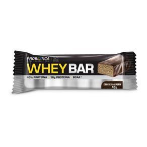 Whey Bar - (1Unidades 40G) - Probiótica - Cookies & Cream