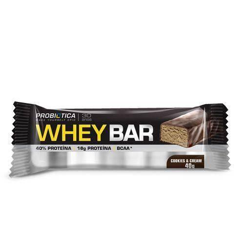 Whey Bar High Protein - 1 Unidade Cookies e Cream - Probiótica
