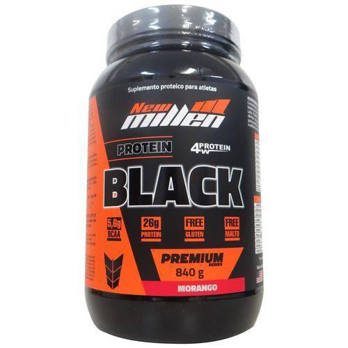 Whey Protein 4w Black Premium New Millen Sabor Morango - 840gr