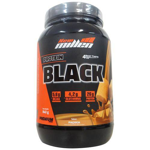 Whey Protein 4w Black Premium New Millen Sabor Paçoca - 840gr